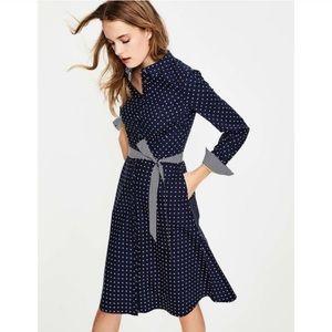 Boden Polka Dot Posy Shirt Dress